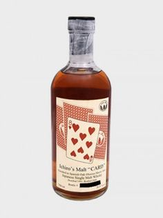 Ichiro's Malt – Eight Of Hearts Cask Hogshead, Oloroso Sherry butt. A legendary and very rare bottle. Distilled at Hanyu Distillery Japanese Whisky, Distillery, Bourbon, Whiskey Bottle, Bottles, Alcohol, Hearts, Drinks, Vintage