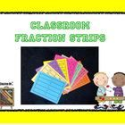 Is it too expensive to purchase fraction manipulatives for your entire class???  I have the solution..... The Classroom Fraction Strips.  This easy...