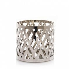 Everyday Metal Chrome Argyle : Fragrance Spheres™ Holder : Yankee Candle $5.99 NEW Yankee Candle Company