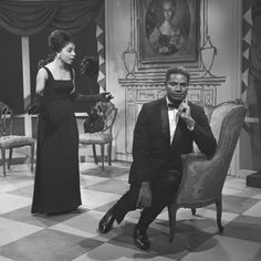 Ruby Dee and Ossie Davis in Stage Two in 1964.