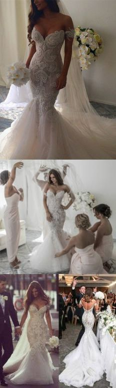 Stunning Wedding Dress,Off-the-Shoulder Wedding Dress,Sleeveless Wedding Dress,Ruched Wedding Dress,Lace Wedding Dress, Mermaid Wedding Dress,Long Wedding Dress,Wedding Dress,Wedding Dresses,2017 Wedding Dress,2017 Wedding Dresses