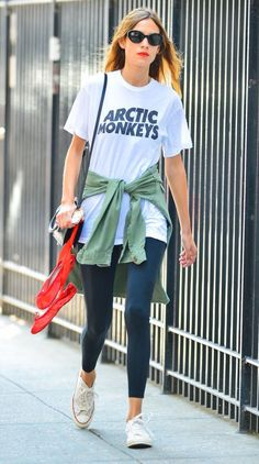 7/30/14 - Alexa Chung out in NYC.