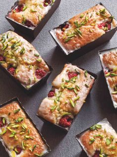 RASPBERRY, ALMOND & PISTACHIO FINANCIER [France] [foodandtravel]