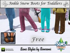Snow Boots for Toddlers by Simromi  http://www.thesimsresource.com/downloads/1179172