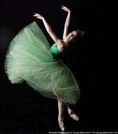"Christiana Bennett in ""Emeralds"", BalletWest (Photo By Erik Ostling)"