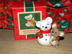 Vintage Snow Buddies Handcrafted Ornament  by MemeresAttic on Etsy