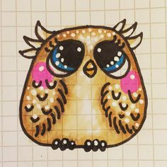 #Doodling I think one of the cutest owls Ive ever done. I love her! Maybe a baby owl to go with her?  I love #owlies ❤️ hoot! #owl #owls #buhos #doodles #doodle #instaartist #instaart #illustration #jennysuchindesigns #owlillustration #owldrawing