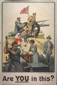 WW1 UK poster