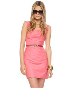 Squared Cap Sleeve Dress w/Belt  $24.80