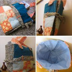 Como hacer un bolso de tela expandible