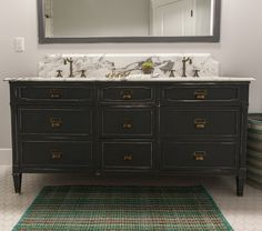 Old dresser makes the perfect bathroom vanity eclecticallyvintage.com