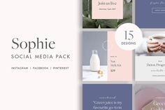 SALE! $10 OFF Sophie Social Pack by Moyo Studio on @creativemarket