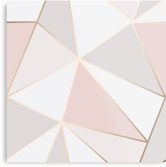 'Geometric pink gold' Canvas Print by Elyse-blais Millions of unique designs by independent artists. Find your thing. Gold Wallpaper Designs, Rose Gold Wallpaper, Gold Painted Walls, Gold Walls, Rose Gold Wall Paint, Rose Gold Painting, Bedroom Wall Designs, Accent Wall Bedroom, Paint Designs For Walls