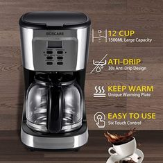 If you need to brew good coffee in office, this mini coffee machine with very modern coffee machine design will suite you! Check it out! Coffee Machine Design, Amazon Coffee, Coffee Brewer, Best Coffee, Drip Coffee Maker, Brewing, Mini, Easy, Strength