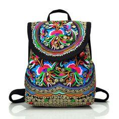Embroidered Hippie Backpack. Hippie BackpackFloral BackpackWomen s BackpackRetro  BackpackTravel HandbagsShoulder Bags For SchoolEthnic BagEthnic ... 5052fa968c459