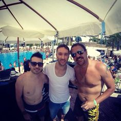 Massive #beach #party in #Lebanon!! Met up with #Eddiehalliwell over the weekend!! Shant (Left) Eddie (Middle) Clint (Right)!! Amazing #live DJ!!! :D