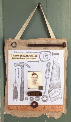 Darkroom Door Tool Shed Rubber Stamp Set Ideas - this piece created by Susie Campbell.