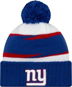 New Era Men s New York Giants Thanksgiving Blue Pom Knit 2234763b0