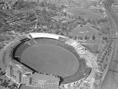 1930s: Aerial view of the Melbourne Cricket Ground. Picture: Herald Sun Image Library