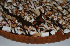 kosher dessert recipe, s'mores tart, s'more's bars, mini marshmallows,