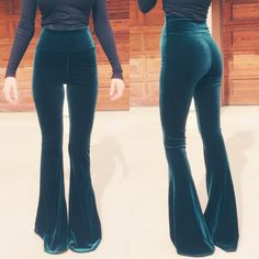 BRAND NEW! Emerald Green Velvet Bell Bottoms XS Brand new and never worn! They don't have tags because I custom ordered these from Home Cooked Karma on Etsy, so they came without tags. These are STUNNING dark emerald green velvet bells that are soft and stretchy. You can wear them highwaisted or fold down the waistband for a lower-rise look. Size XS fits a size 0-2 or size 24-26- they have plenty of stretch! Perfect for Coachella & other festivals! Make me an offer or ask me to make you a…