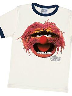 LOGOSHIRT Tier - Muppet Show weiss/blau Kinder Shirt