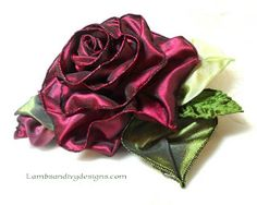 Lambs and Ivy Designs video tutorial for making french wire ribbon rose