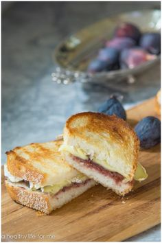 Brie and Fig Preserve Grilled Cheese. Perfect for tailgating in style, or if you want to impress the family or friends with a gourmet sandwich.