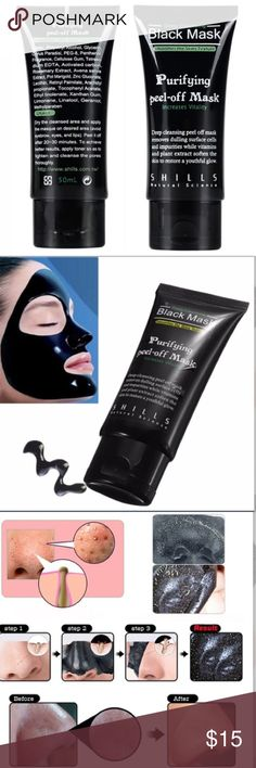 Deep Cleansing Black Purifying Peel-off Mask DEEP CLEANSING Specially-formulated to unblock clogged pores by peeling blackheads, dirt and spot-causing bacteria away.  Directions for Use leanse your face and pat dry. Apply a medium-to-thick layer on desired area, making sure to avoid eyebrows, hairline, eye area and lips. Leave for 20-30 minutes until fully dry and peel-off, gently peeling starting from the bottom.  I'VE TRIED IT AND IT REALLY WORKS!! Makeup