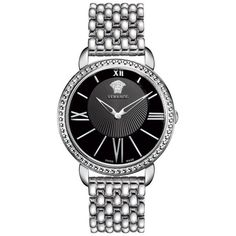 Versace Women's Krios Swiss Quartz Watch ($600) ❤ liked on Polyvore