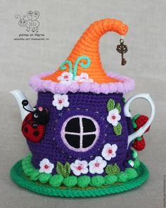 Crochet Fairy, Crochet Home, Crochet Dolls, Knit Crochet, Free Knitting, Knitting Patterns, Crochet Patterns, Tea Cosy Pattern, Cosy House