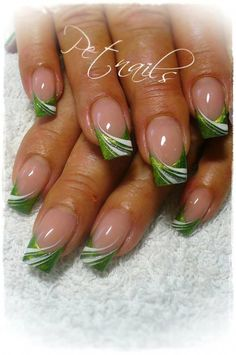 New manicure red white french tips Ideas Fingernail Designs, Cute Nail Designs, Acrylic Nail Designs, Green Nail Designs, French Nail Designs, Creative Nail Designs, French Nails, French Manicures, Nail Manicure