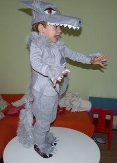 Disfraz de lobo hecho a mano para niños. Muy chulo.