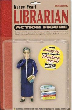 Librarian Action Figure, with amazing push button Shushing Action!