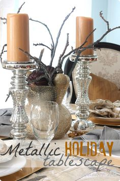 Metallic Holiday Tablescape