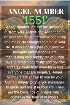 Angel Number 1551 is the message from your Angels and Ascended Masters that there are a new beginning and major life changes coming in your life. Angel Number Meanings, Angel Numbers, Positive Attitude, Positive Thoughts, Be True To Yourself, Finding Yourself, Numerology Compatibility, Life Decisions, God