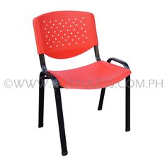 Product Code: VCP-105RED Sale Price:P1 199.00 Description:Stackable Plastic Visitor's Chair in thick powder coated steel frame Product Measurement: 54L x 43W x 80Hcm Chair Capacity: 50kgs. Classification: LIGHT DUTY Usage: OFFICE USE Brand: SUMO