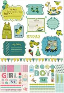 Free baby themed scrapbook printables