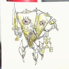 "JU-5T1C14 Tridrone ""NO CHAOS, NO ORDER KNOW CHAOS, KNOW ORDER"" ------------------------------------ a lyric from World Order by WORLD ORDER #thingsyoumightfindinadungeon #dungeonsanddragons #fantasy #modron #order #law #worldorderkhalidhidayat2016/02/11 22:34:02"