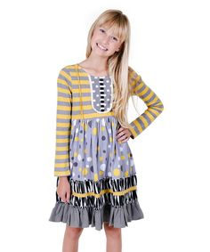 Jelly The Pug Girls' Kali Daisy Grey Dress 4T RRP:$65 #JellythePug #Casual