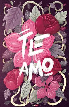 Te Amo. by Charringo, via Behance
