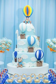 20 Super Ideas for baby shower boy balloons travel themes Its A Boy Balloons, Baby Shower Balloons, Baby Shower Cakes, Baby Shower Parties, Baby Shower Themes, Baby Boy Shower, Teddy Bear Birthday, Baby Boy 1st Birthday, 1st Birthday Parties