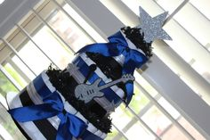 Rock n Roll Baby Shower Diaper Cake; A Star is born Baby Shower gift