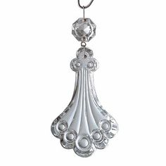 """#Fan #Pulls Clear Pendalogue Pull Chrome Pin 2 1/2"""" # 19753 Shop --> http://www.rensup.com/Fan-Pulls/Fan-Pulls-Clear-Glass-Pendalogue-Fan-Pull-Chrome-Pin-2-1-by-2/pd/19753.htm"""