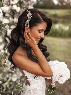 Long Hair Wedding Styles, Wedding Hairstyles For Long Hair, Formal Hairstyles, Down Hairstyles, Long Hair Styles, Short Hair, Indian Hairstyles, Bridesmaid Hairstyles, Wedding Hairstyles Half Up Half Down