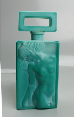 Jade Glass Art Deco perfume bottle. @Deidra Brocké Wallace
