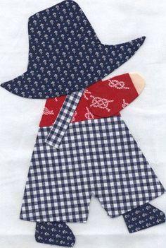 Resultado de imagen para tips for making sunbonnet sue quilt Quilt Baby, Baby Quilt Patterns, Boy Quilts, Girls Quilts, Applique Patterns, Applique Quilts, Applique Designs, Sewing Patterns, Quilting Designs