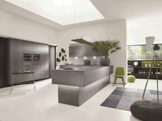 Vintage Alno Concretto kitchen with a ceramic concrete effect finish price on request alnokitchens