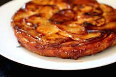 Caramelized Upside-Down French Sweet Potato Pie {Tarte Tatin} #FallFest #SweetPotatoes