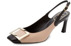 Roger Vivier Women's Leather Slingback Pump #rogervivierpumps